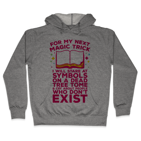 Book Magic Trick Hooded Sweatshirt