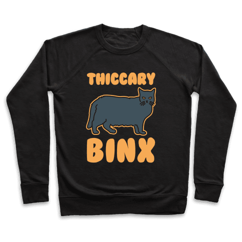 Thiccary Binx Parody White Print Pullover