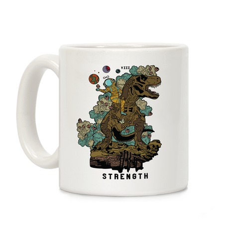 Dinosaur Strength Tarot Coffee Mug