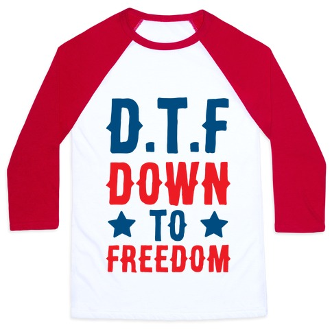 D.T.F Down To Freedom Baseball Tee