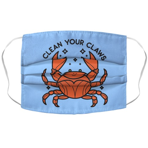 Clean Your Claws Crab Face Mask Cover