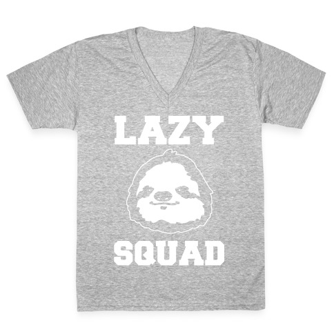 Lazy Squad V-Neck Tee Shirt