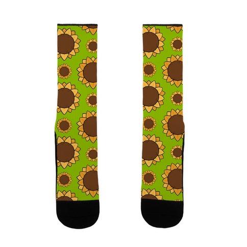 Sunflower Pattern Yellow Sock