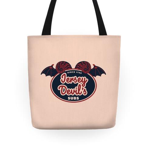 Jersey Devil Subs Logo Parody Tote