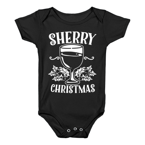 Sherry Christmas  Baby Onesy