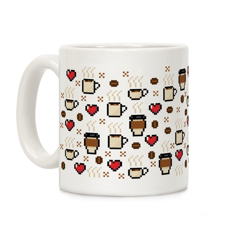 Coffee Pixel Art Pattern Coffee Mug