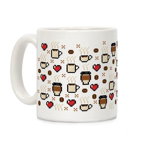 Coffee Pixel Art Pattern Coffee Mug
