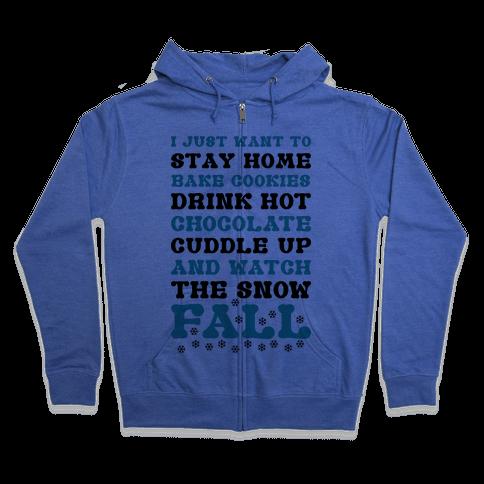 Snow Fall Zip Hoodie