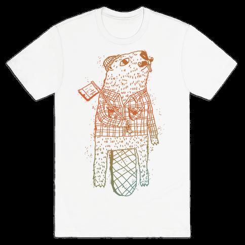 Beaver Lumberjack Mens T-Shirt