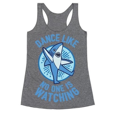 Left Shark Dances Like No One Is Watching Racerback Tank Top