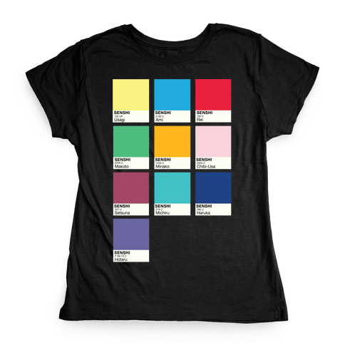 Magical Girl Color Swatch Parody Womens T-Shirt