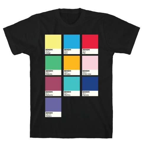 Magical Girl Color Swatch Parody Mens T-Shirt