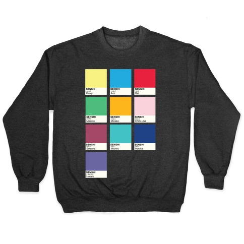 Magical Girl Color Swatch Parody Pullover