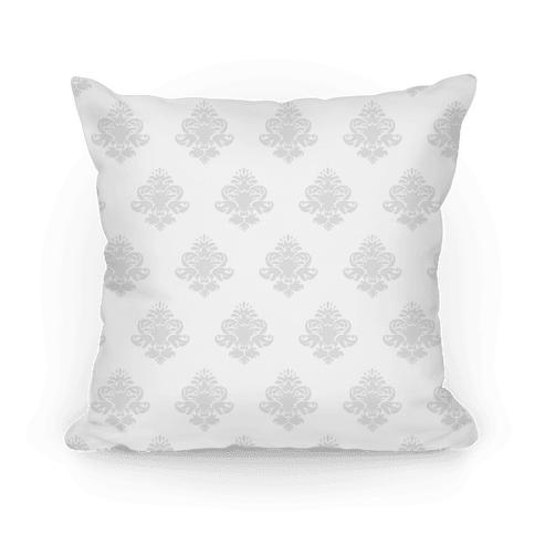 White & Grey Classy Pillow Pattern Pillow