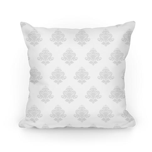 White & Grey Classy Pillow Pattern