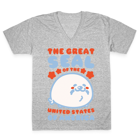 The Great Seal of The United States of America V-Neck Tee Shirt