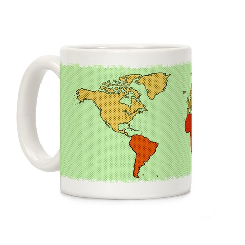 Wanderlust World Map Coffee Mug