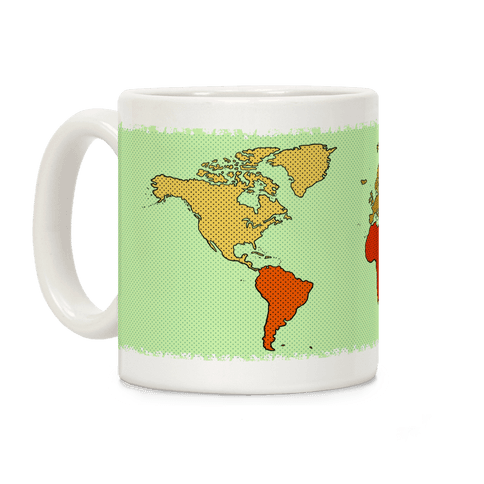 Wanderlust World Map Coffee Mug