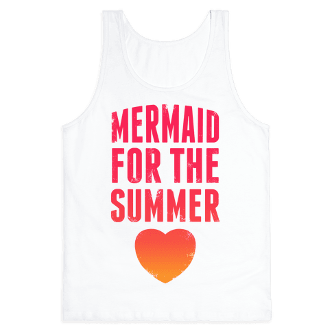 Mermaid For The Summer (Pink) Tank Top