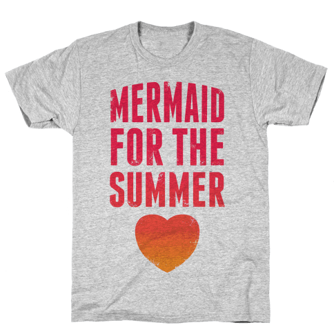 Mermaid For The Summer (Pink) Mens T-Shirt