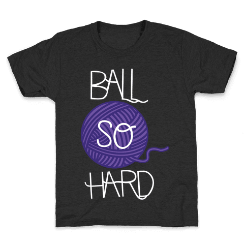 Yarn So Hard (Dark) Kids T-Shirt