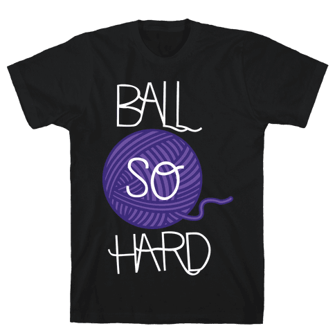 Yarn So Hard (Dark) Mens T-Shirt