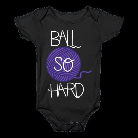Yarn So Hard (Dark) Baby Onesy