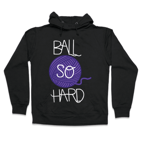 Yarn So Hard (Dark) Hooded Sweatshirt
