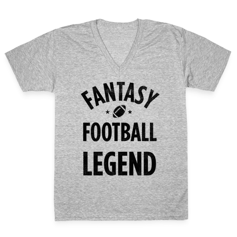 Fantasy Football Legend V-Neck Tee Shirt