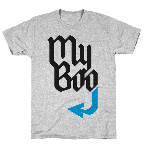 My Boo( Blue half) Mens T-Shirt