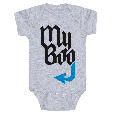 My Boo( Blue half) Baby Onesy