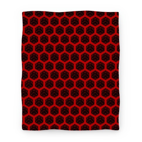 D20 Blanket (Black Dice) Blanket