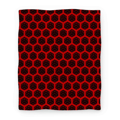 D20 Blanket (Black Dice) Blanket