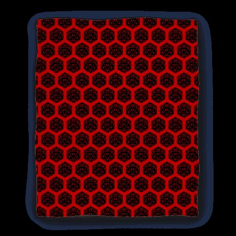 D20 Blanket (Black Dice)