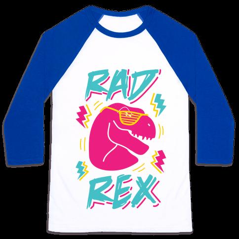 Rad Rex Baseball Tee