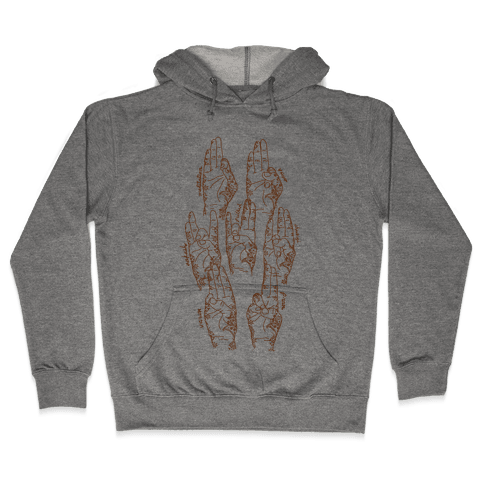 Healing Yoga Mudras Hooded Sweatshirt