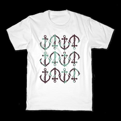 Anchor Pattern Kids T-Shirt