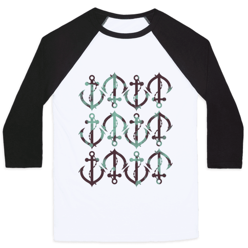 Anchor Pattern Baseball Tee