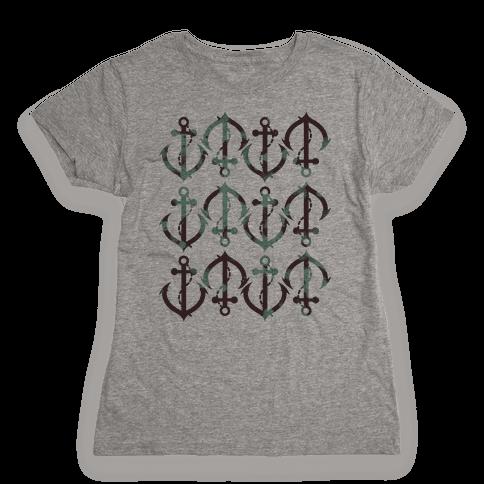 Anchor Pattern Womens T-Shirt