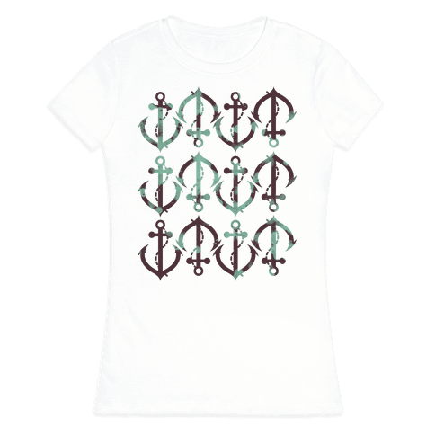 Anchor Pattern Womens T-Shirt