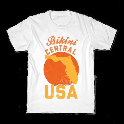 Bikini Central USA (Florida) Kids T-Shirt