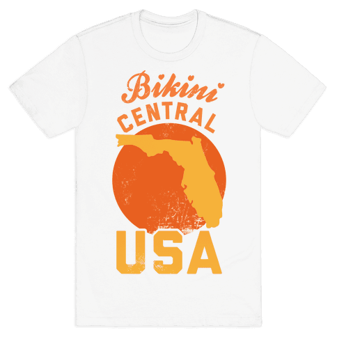 Bikini Central USA (Florida) Mens T-Shirt