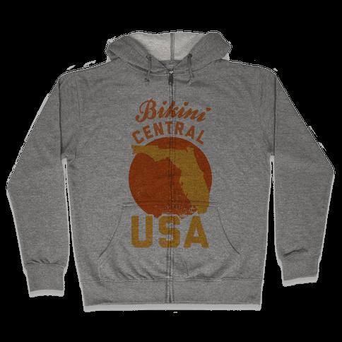 Bikini Central USA (Florida) Zip Hoodie