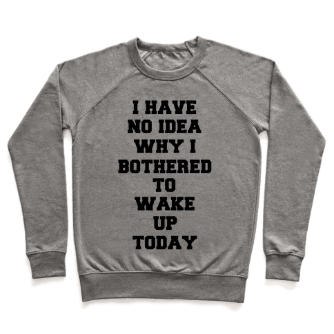 I Have No Idea Why I Bothered To Wake Up Today Pullover