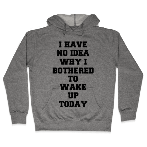 I Have No Idea Why I Bothered To Wake Up Today Hooded Sweatshirt