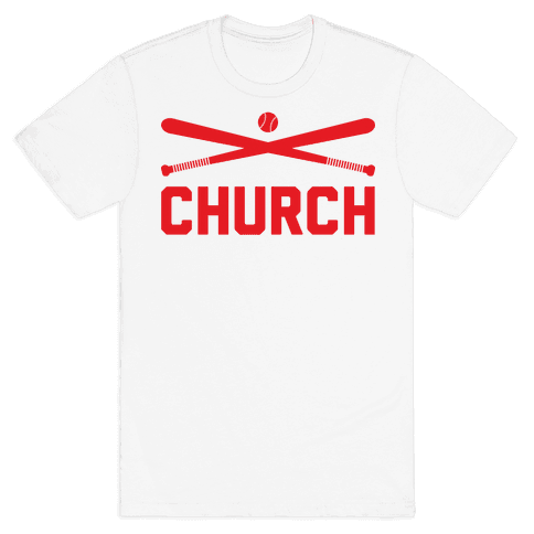 Baseball Church Mens T-Shirt