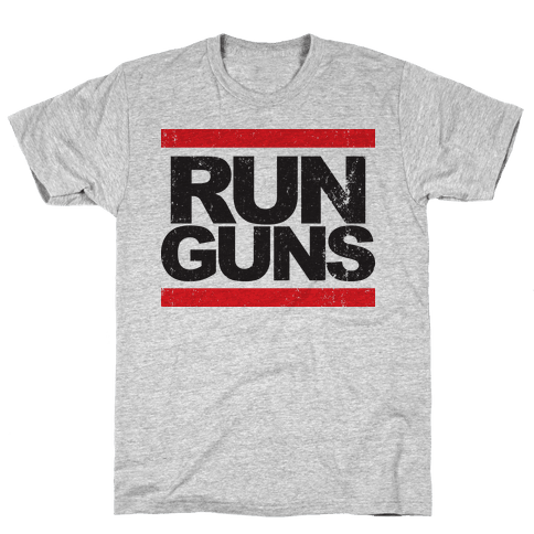 Run Guns (Vintage Shirt) Mens T-Shirt