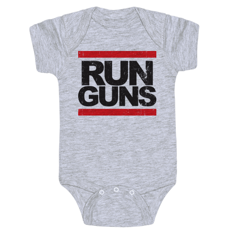 Run Guns (Vintage Shirt) Baby Onesy