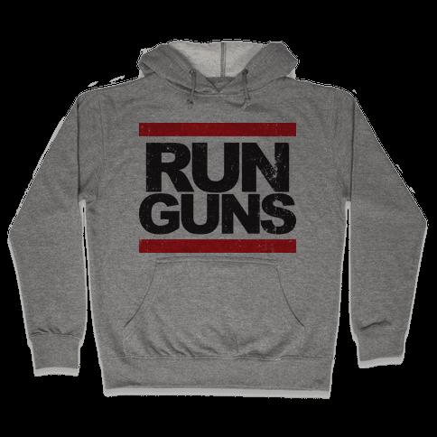 Run Guns (Vintage Shirt) Hooded Sweatshirt