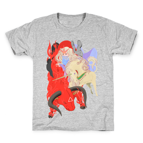The Last Unicorn and the Red Bull Kids T-Shirt